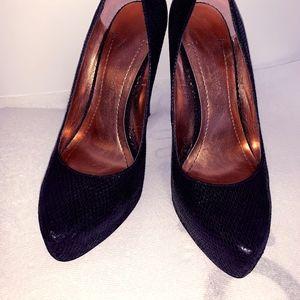 Pointy platform heels